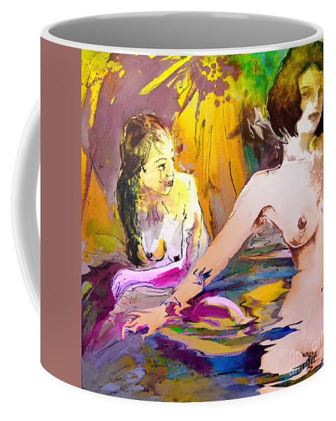 Miki Coffee Mug featuring the painting Eroscape 15 2 by Miki De Goodaboom