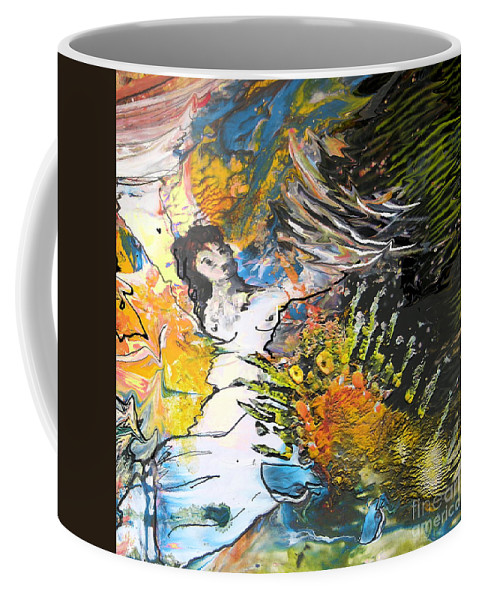 Miki Coffee Mug featuring the painting Erotype 07 2 by Miki De Goodaboom