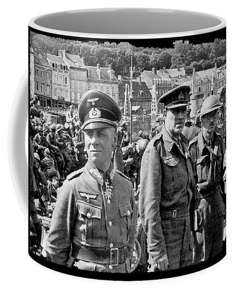 Erwin Rommel And Captured British Soldiers Tobruck Libya 1942 Color Added 2016 Coffee Mug featuring the photograph Erwin Rommel And Captured British Soldiers Tobruck Libya 1942 Color Added 2016 by David Lee Guss