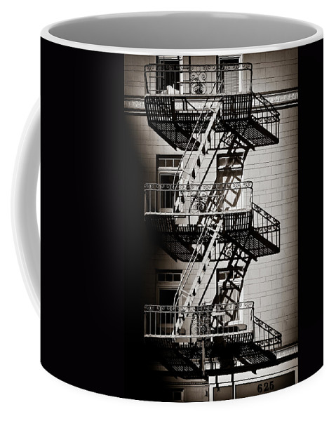 Fire Escape Coffee Mug featuring the photograph Escape by Dave Bowman