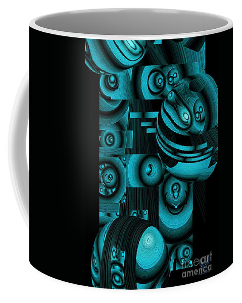 Colorful Coffee Mug featuring the digital art Escape Their Box by Dale Crum