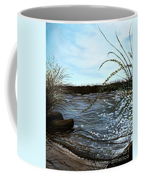 Landscape Coffee Mug featuring the painting Escape With Me by Elizabeth Robinette Tyndall
