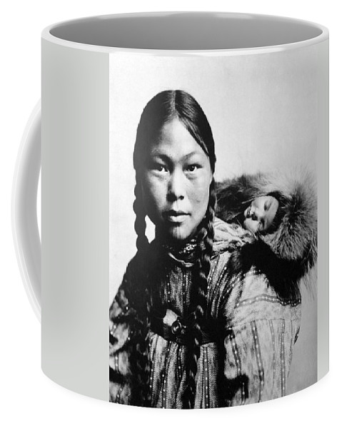 1906 Coffee Mug featuring the photograph Eskimo Woman And Child by Granger