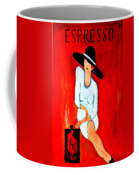 Italian Coffee Mug featuring the digital art Espresso by Helmut Rottler