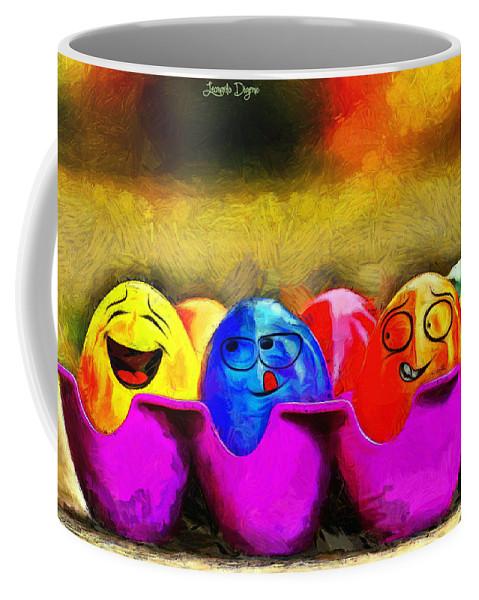 Ester Coffee Mug featuring the painting Ester Eggs - Pa by Leonardo Digenio