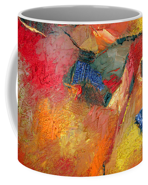 Abstract Coffee Mug featuring the painting Eternally Rich by Ruth Palmer