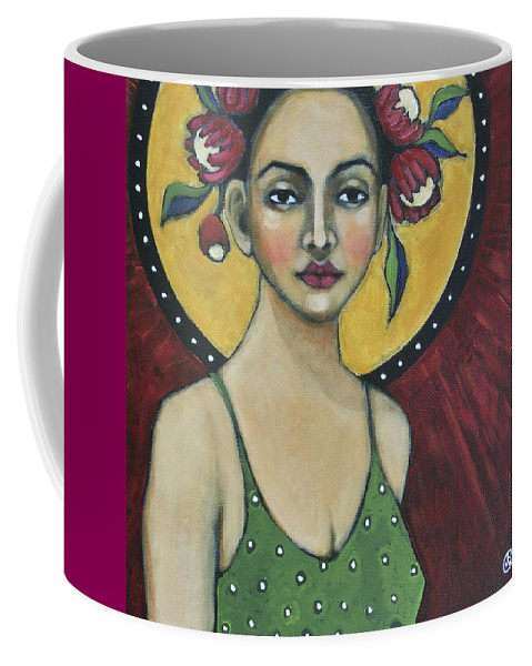 Portrait Coffee Mug featuring the painting Eternally Yours by Jane Spakowsky