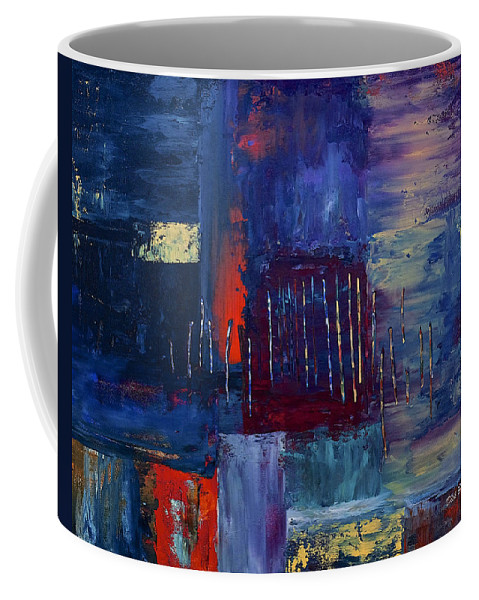 Abstract Coffee Mug featuring the painting Eternity by Dick Bourgault