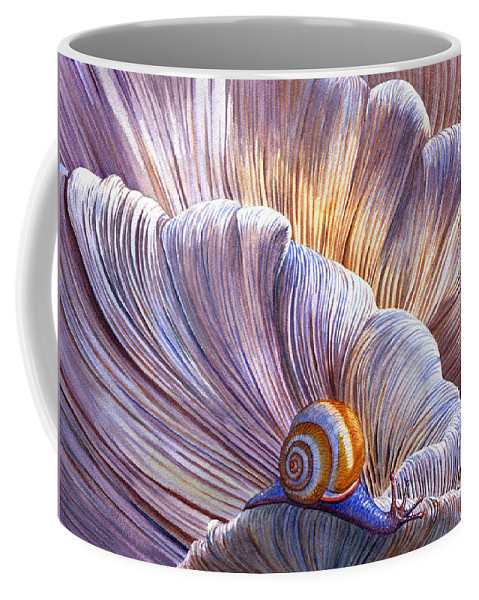 Mushroom Coffee Mug featuring the painting Etherial by Catherine G McElroy