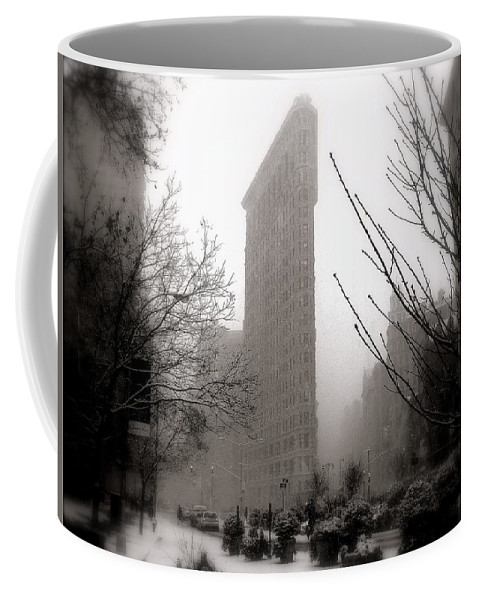 New York Coffee Mug featuring the photograph Ethereal Flat Iron by Jeff Watts