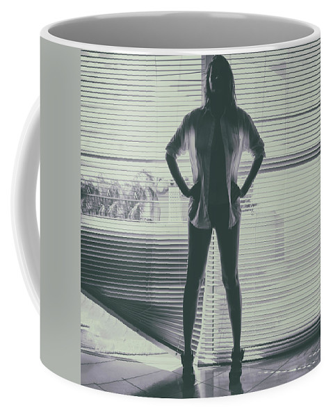 Silhouette Coffee Mug featuring the photograph Ethereal Woman by Stelios Kleanthous
