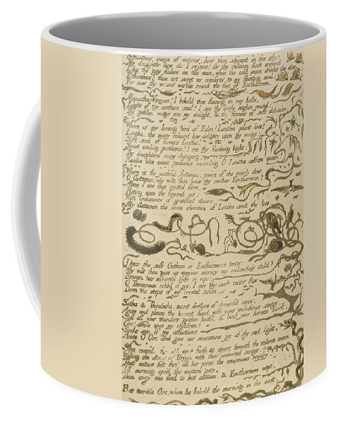 William Blake Coffee Mug featuring the drawing Ethinthus Queen Of Waters by William Blake