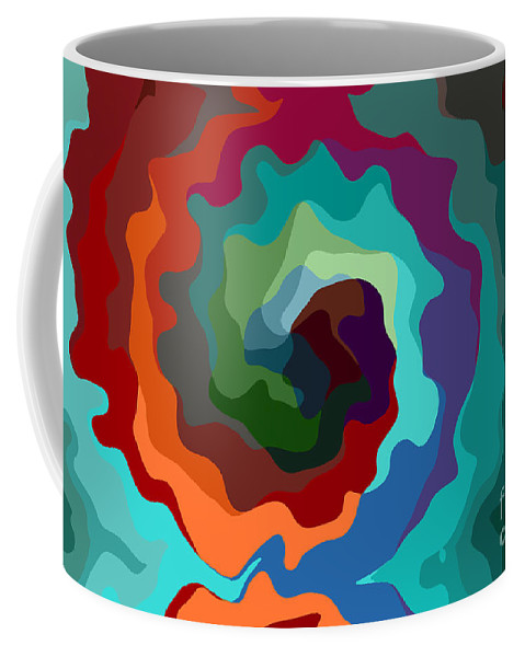 Multicolors Coffee Mug featuring the digital art Etourdissement - 11a by Variance Collections