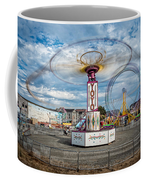 Carnival Coffee Mug featuring the photograph Eureka Carnival by Greg Nyquist