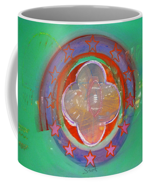 Symbol Coffee Mug featuring the painting European Merry-go-round by Charles Stuart