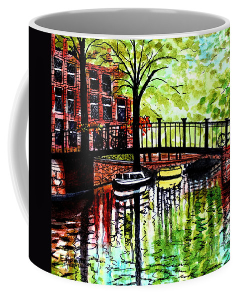 Landscape Coffee Mug featuring the painting European Travels by Elizabeth Robinette Tyndall