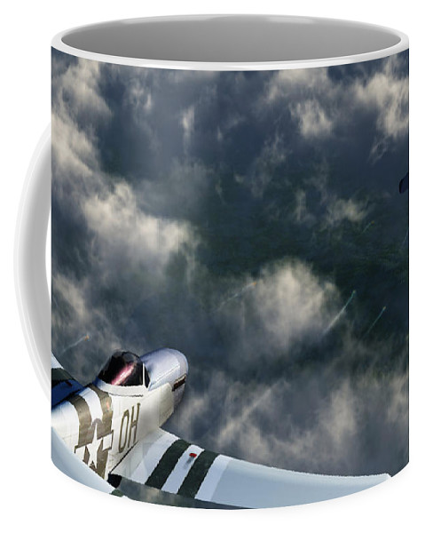 Warbirds Coffee Mug featuring the digital art Evade by Richard Rizzo