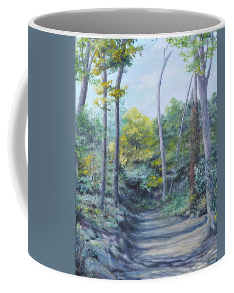 Oil Painting Coffee Mug featuring the painting Even The Trees Praise by Penny Neimiller