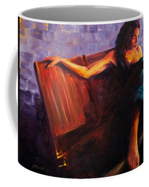 Figure Coffee Mug featuring the painting Even Though by Jason Reinhardt