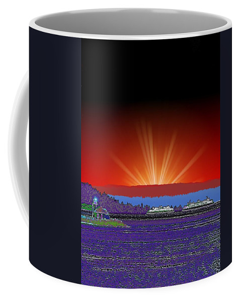 Evening Coffee Mug featuring the digital art Evening At Alki by Tim Allen