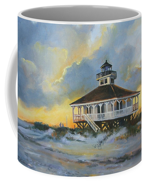 Oil Painting Coffee Mug featuring the painting Evening Boca Grande Light by Dianna Willman