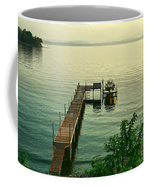 Lake Coffee Mug featuring the photograph Evening In Charlotte by Deborah Benoit