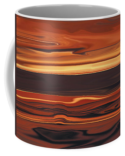 Abstract Coffee Mug featuring the digital art Evening In Ottawa Valley 1 by Rabi Khan