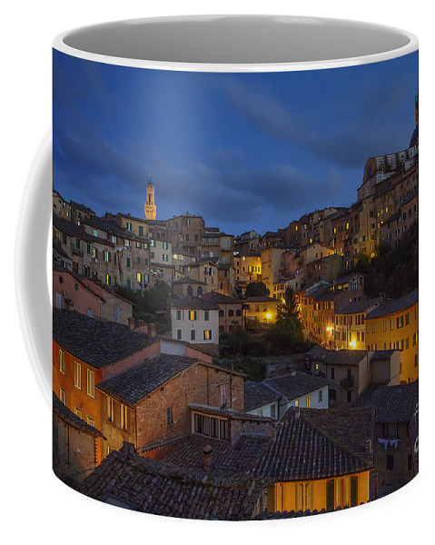 Siena Coffee Mug featuring the photograph Evening In Siena by Spencer Baugh