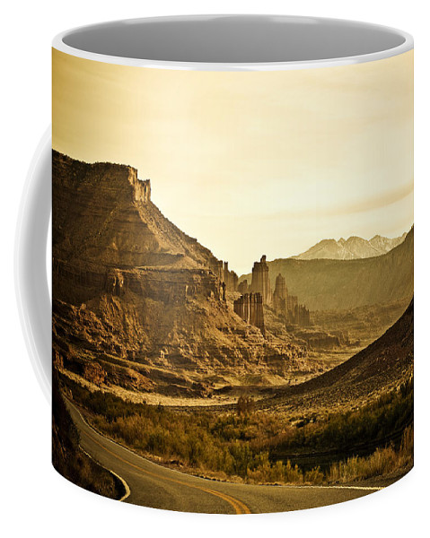 Americana Coffee Mug featuring the photograph Evening In The Canyon by Marilyn Hunt
