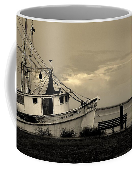Harbor Coffee Mug featuring the photograph Evening In The Harbor by Susanne Van Hulst