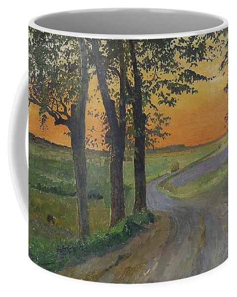 Carl Wilhelmson 1866-1928 Evening In The Plain Coffee Mug featuring the digital art Evening In The Plain by Mark Carlson