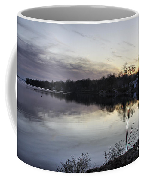 Lake Champlain Coffee Mug featuring the photograph Evening Light On Lake Champlain by Deborah Benoit