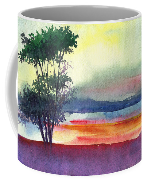 Water Color Coffee Mug featuring the painting Evening Lights by Anil Nene