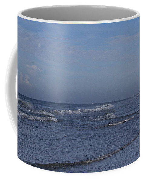 Ocean Coffee Mug featuring the photograph Evening On The Beach by Teresa Mucha