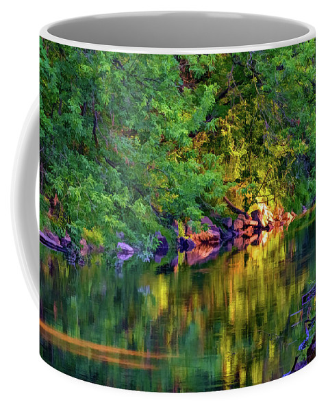 Steve Harrington Coffee Mug featuring the photograph Evening On The Humber River - Paint by Steve Harrington