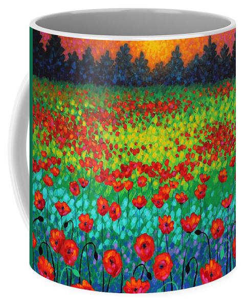Acrylic Coffee Mug featuring the painting Evening Poppies by John Nolan
