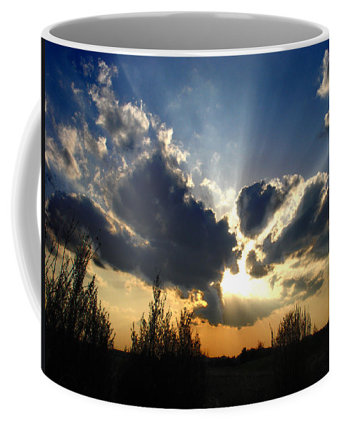 Landscape Coffee Mug featuring the photograph Evening Sky by Steve Karol