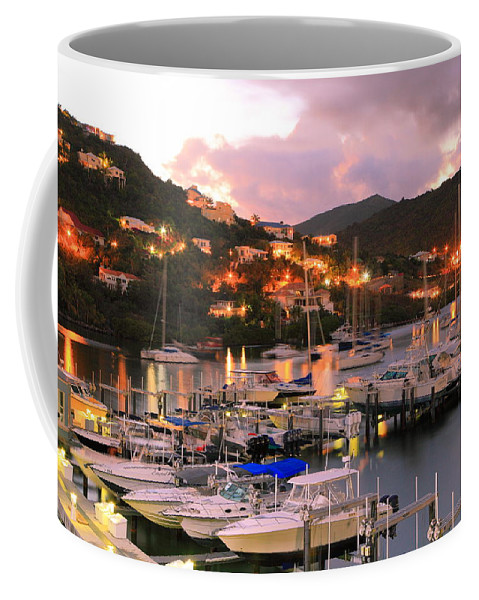 Oyster Bay Coffee Mug featuring the photograph Evening Twilight At Oyster Pond, St. Martin by Roupen Baker