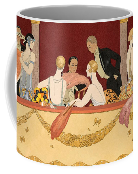 Barbier Coffee Mug featuring the painting Eventails by Georges Barbier