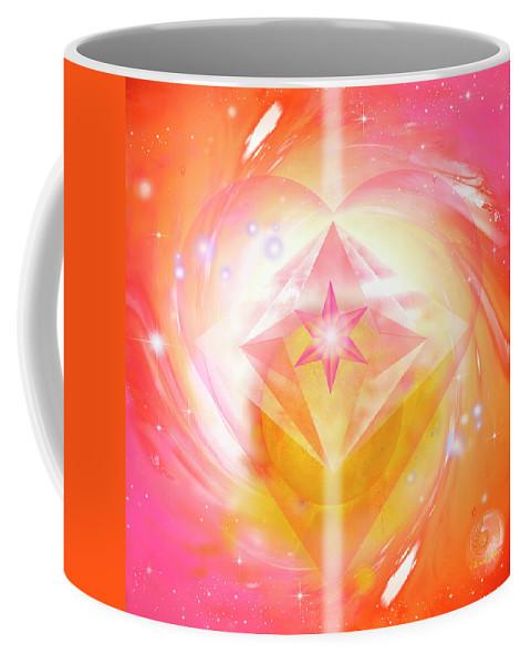 Balance Coffee Mug featuring the mixed media Everlasting Love by Sarah Jeane