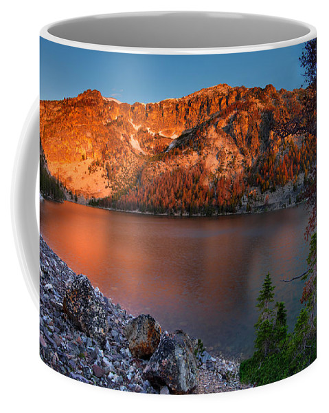 Everson Lake Coffee Mug featuring the photograph Everson Lake by Leland D Howard