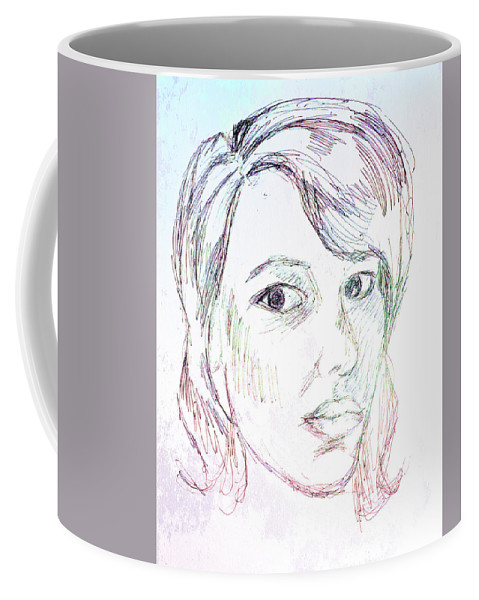 Woman Coffee Mug featuring the drawing Every Woman - Eve by Emily Perry