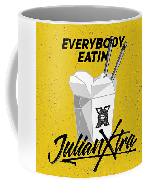 Chinese Take Out Coffee Mug featuring the digital art Everybody Eatin by Julian Xtra