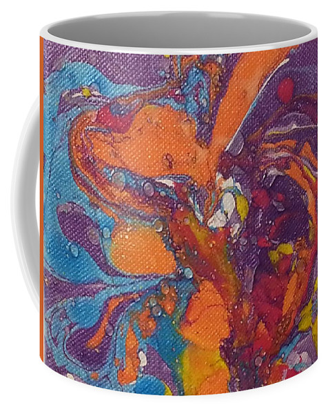 Coffee Mug featuring the painting Everycolor 1 by Jan Pellizzer
