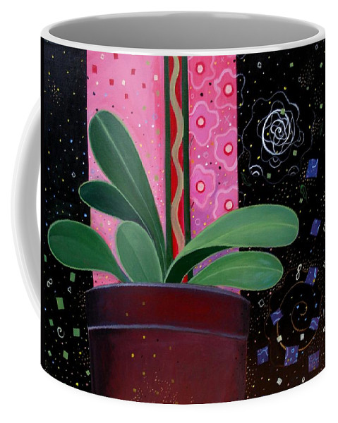 Sacred Coffee Mug featuring the painting Everyday Sacred by Helena Tiainen