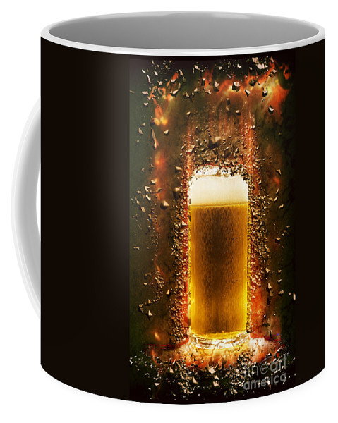 Beer Coffee Mug featuring the photograph Everyone Should Believe In Something. I Believe I Will Have Anot by Ilan Rosen