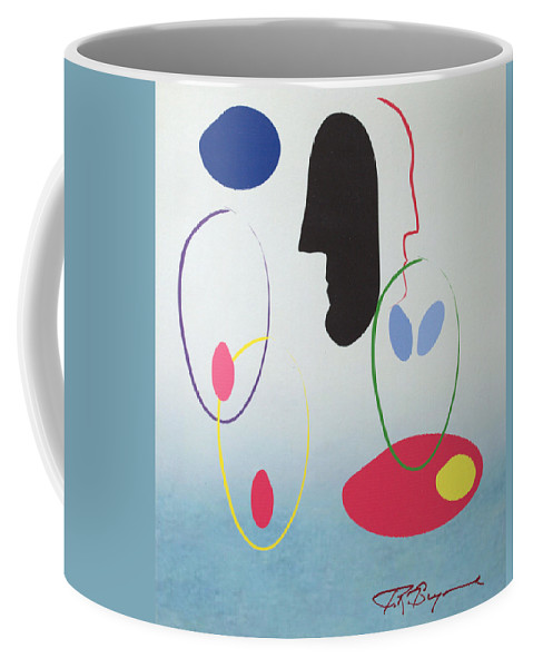 Digital Artwork Coffee Mug featuring the digital art Everyones Talking And No One's Listening by J R Seymour