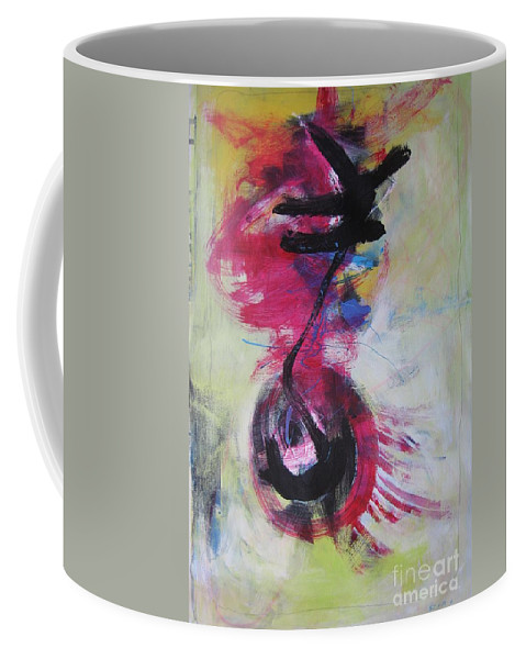 Abstract Paintings Red Paintings Coffee Mug featuring the painting Everything A Mistake-abstract Red Painting by Seon-Jeong Kim