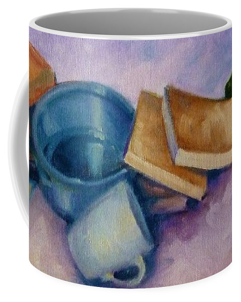 Still Life Coffee Mug featuring the painting Everything But The Kitchen Sink by K M Pawelec