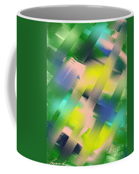 Abstract Coffee Mug featuring the painting Everything Matters by Frances Ku
